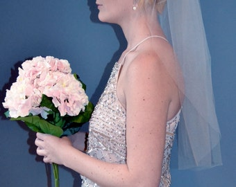 1 Tier Blusher Wedding Veil