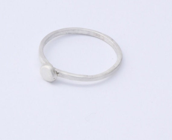 silver ring simple silver ring plain sterling silver