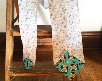 Flannel Scarf Tie -  Dotted Scallop Owls Super Soft custom, Winter fashion neck scarf