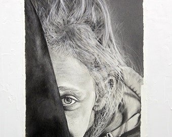 A4 Custom Portrait (EXAMPLE) Hand Drawn , Pencil Drawing, Pet Portrait, Family Portrait, Personalized Portrait, Couples Portrait