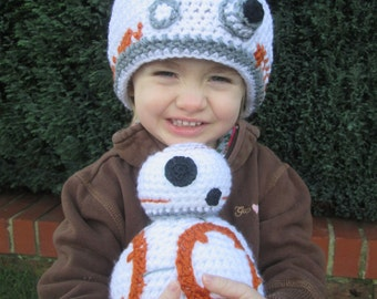Round Robot Handmade Crocheted Baby and Toddler Hat/ Photography Prop/Halloweern Accessory