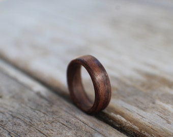 Rosewood Wooden Wedding Ring, Wooden Engagement Ring, Rosewood ring, wooden ring, promise ring, Bentwood Ring