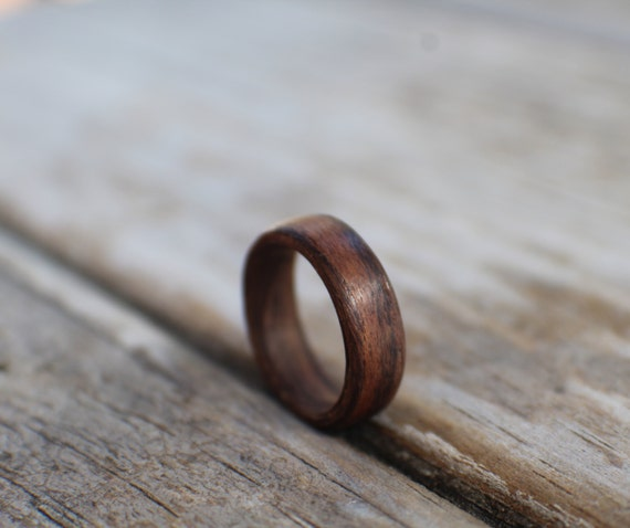 rosewood wooden wedding ring wooden engagement ring rosewood