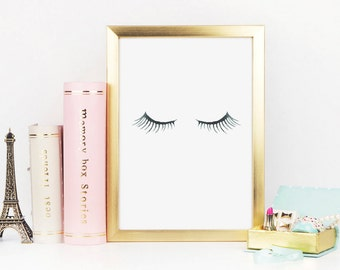 Eyelash Print, Lashes Print, Makeup Print, Eyelashes, Makeup Art, Fashion Art, Beauty Print, Fashion Print, Mascara Print, Printable Art