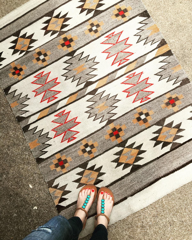 Vintage Navajo Transitional Rug / Blanket