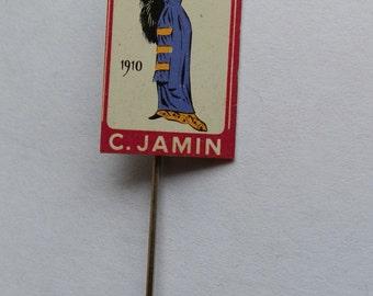 1960's Vintage C. Jamin Ladies' Fashion Stick Pin Badge 1910