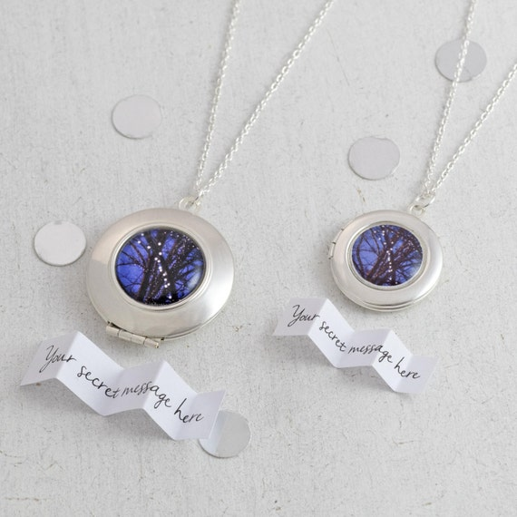Woodland Fairytale Locket Necklace, Fairytale Gift, Nature Lovers Gift, Sentimental Keepsake, Personalized Locket, Unique Gift for Her