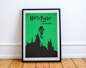 The Half Blood Prince - Harry Potter - Alternate Minimalist Poster - Gryffindor - Slytherin - Ravenclaw (Available in Many Sizes)