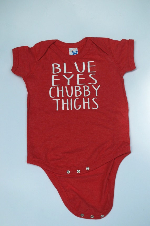 Blue Eyes Chubby Thighs™ - Brown Eyes Chubby Thighs - Baby Fine Jersey Body Suit