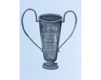 """Paper Art Print: """"It's A Major Award!"""" // Silver Award Trophy // Personalized Trophy // Personalization Available"""