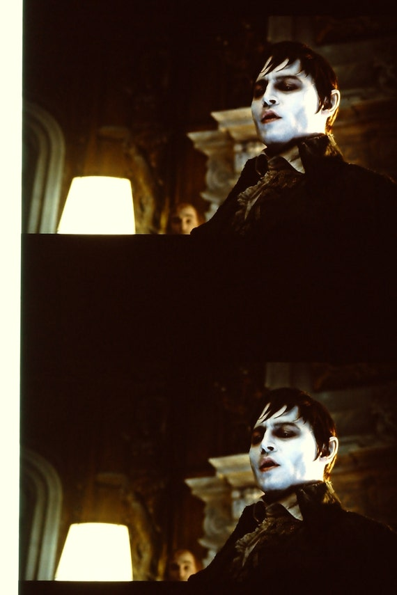 Dark Shadows - Johnny Depp Eva Green - 1 Strip of 5 35mm Unmounted film cells ONLY 1 STRIP AVAILABLE of each film cell