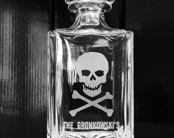 halloween decor halloween party favors custom engraved glass whiskey decanter personalized halloween decorations - Personalized Halloween Decorations