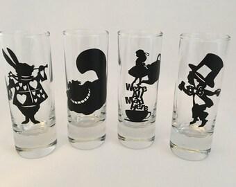 Alice in Wonderland Shot Glasses (4pack)