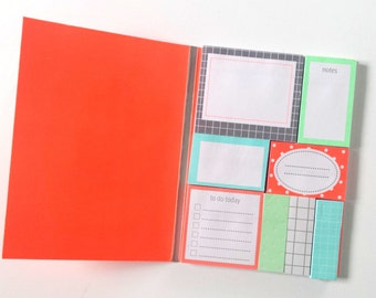 Sticky Notes booklet / set with fluorescent details