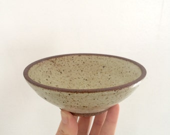 Small Ceramic Bowl. Handmade Ceramic Bowl. Low Pottery Stoneware Bowl. Catchall. Matte White Glaze.