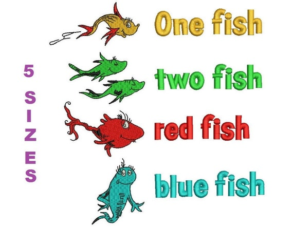 One fish two fish red fish blue fish digitized machine for One fish two fish red fish blue fish costume