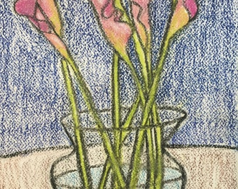 Callas in Oil Pastel