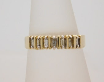 0.25 Carat T.W. Baguette Cut Diamond Band 14K Yellow Gold Ring