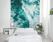 Water Tapestry, Nautical Tapestry, Turquoise Wall Art, Abstract Tapestry, Wall Decorations, Lightweight Wall Art, Photo Tapestries. UL057