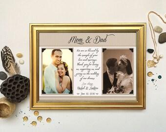 Parents Wedding Gift-Parents Thank You gift Wedding, Gift for Parents of the Bride, Parents of the Groom gift, Custom Wedding Gift