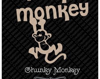 Chunky Monkey Vinyl Digital Design Download
