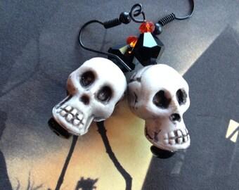 Skull Earrings, Halloween Earrings, Halloween Jewelry