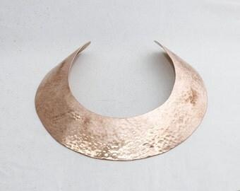 1 Pcs Width 40mm Copper Neck, Hammered Choker, Raw Copper Huge Neck, Neck, Collar , CF41