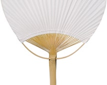 Perfect White Paper Paddle Fan Bamboo Beach Favor Summer Destination Wedding Outdoor Indoor Birthday Party Supplies Events Decor Props