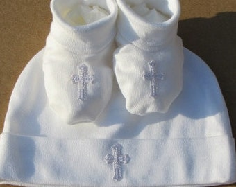 Baptism Christening Gown Baby Boy/Girl Cross 2 Piece Set