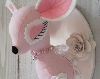 Pink Bambi Faux Taxidermy