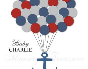Baby Shower Guest Book Alternative Nautical Baby Shower Nautical Guest Book Poster Guest Sign In Anchor Baby Shower Anchor Guest Book