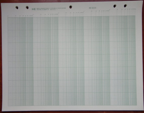 Semi-Logarithmic Graph Paper K&E 46 6210