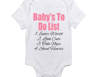 New baby girl gift Personalized Baby Gift Baby Girl Baby Shower newborn outfit Baby Girl Clothes Onesie, Gift For Women girlfriend  (EX 012)