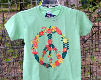 Flower Peace Sign Youth T-Shirt