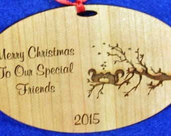 Gift For Friends.  Christmas Gift For Friends.  Engraved Ornament. Personalized Ornaments. Friend Ornament.  Friend Gift. Free Shipping. USA