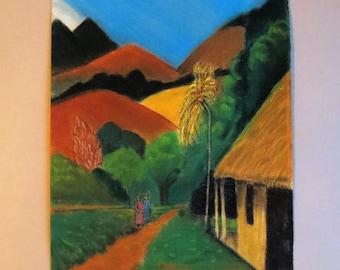 Variation on Gaugain's 'Road in Tahiti'