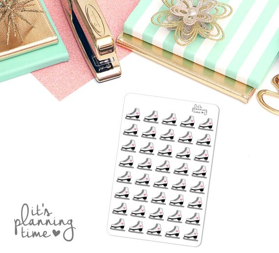 Ice Skates Life Planner Stickers- 40 count