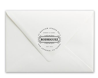 Custom Self-Inking Stamp - Personalized Stamp - Name Stamp - Address Stamp - Rodriguez Address Stamp