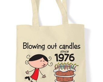 Blowing Out Candles Since 1976 40th Tote Shopping Bag