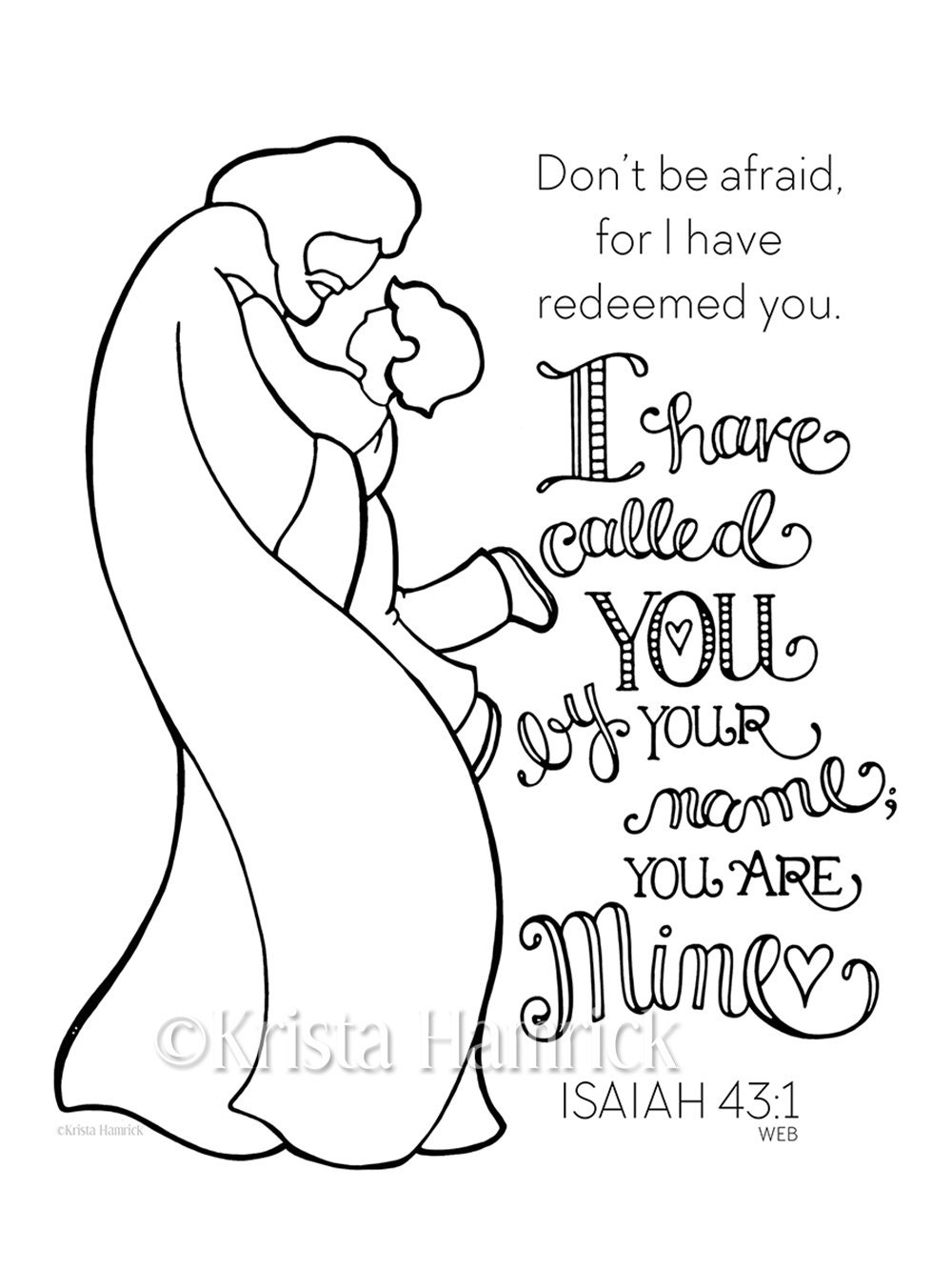I Have Called You By Name Boy Coloring Page 85X11 Bible