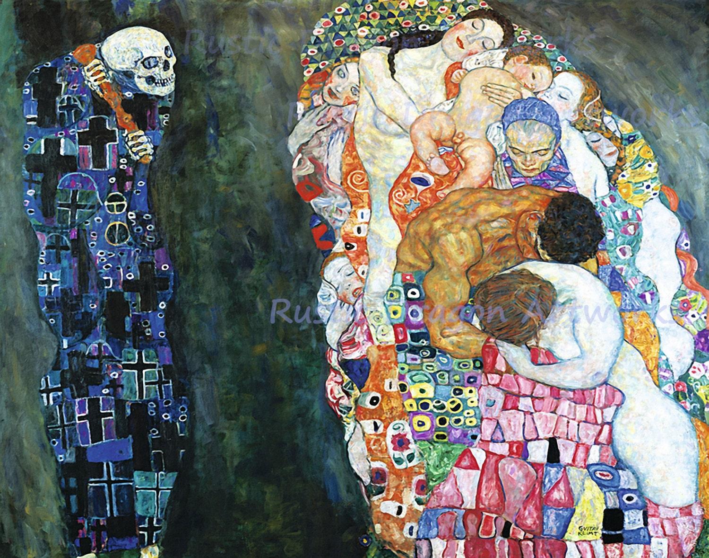 Gustav Klimt Death and Life 1910 Reproduction