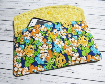 iPhone Clutch Wallet, Smartphone Clutch, Womens Fabric Cell Phone Holder, Phone Clutch, Cell Phone Clutch, Smartphone Holder