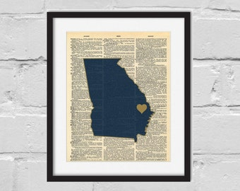 Ga Southern Print. Dictionary Art Print. Hail Southern.
