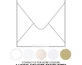 160mm Square Invitation Envelopes (pack of 10)