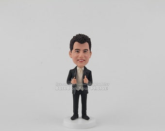 Groom bobblehead doll From Bride To My Groom On Our Wedding Day, Grooms gift, Personalized wedding gift, unique Grooms gifts, Gift for Him