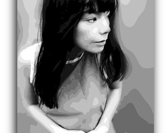 Bjork Canvas Art Print A1 A2 A3 A4
