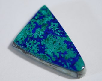 Bull's Eye Malachite Azurite  Designer Cabochon, Green and Royal Blue, Triangle shape 26 x 18mm, 20.55ct, Morenci, Arizona, C3691
