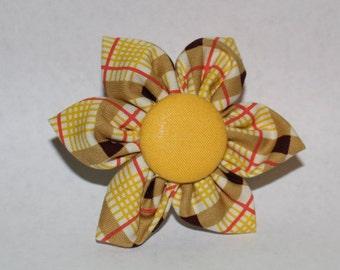 Yellow Multi Plaid Flower