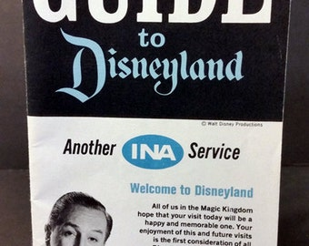 Disneyland - Your Guide to DisneyLand - Vintage INA Insurance Company Booklet