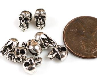 Skull 925 Bali Sterling silver 5 per order-s1